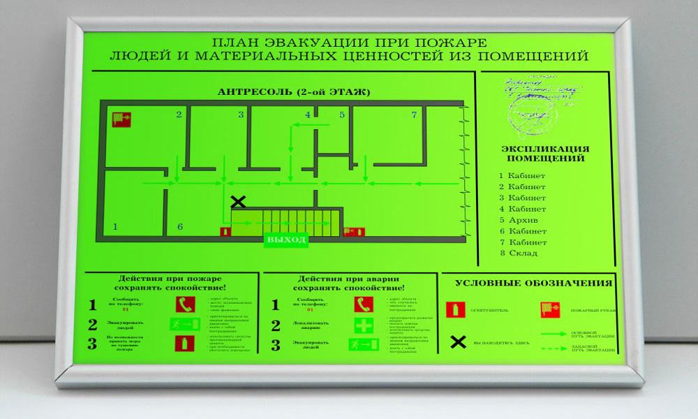 Составление плана эвакуации и текстовой инструкции к нему